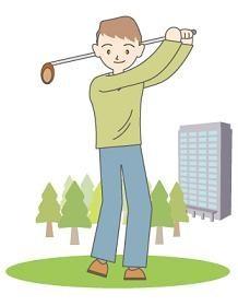 ゴルフ肩・名古屋市・スイングショルダー